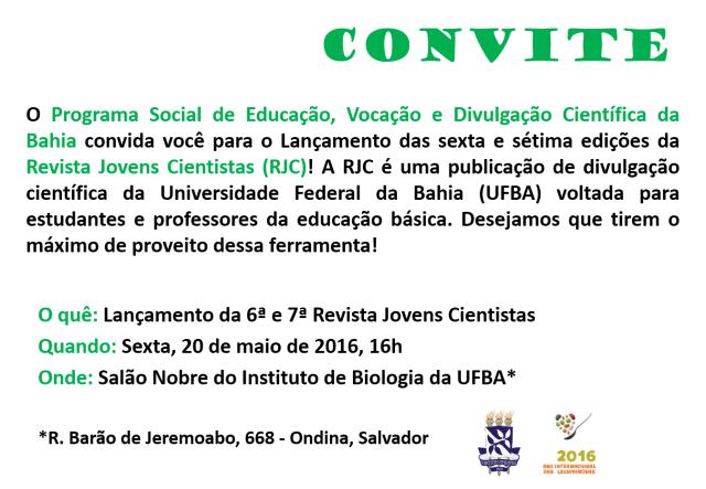 Convite RJC